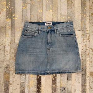 FRAME jean skirt